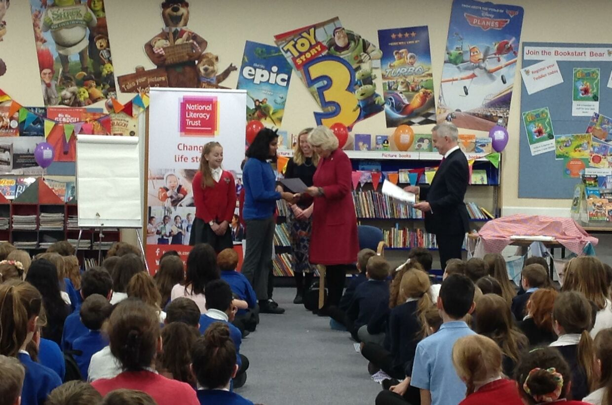 Duchess of Cornwall Awards Drove Primary Pupil for Poetry