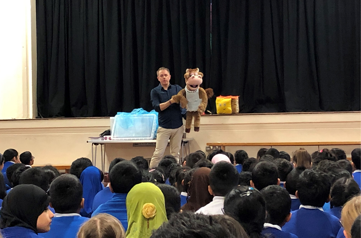 CBeebies Star Chris Jarvis Hosts Guest Assembly at Our School